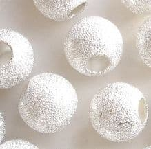 Silver Plated Beads 12mm Stardust Round - 10