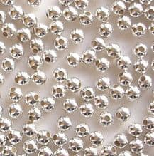 Silver Plated Beads 3mm Round - 100