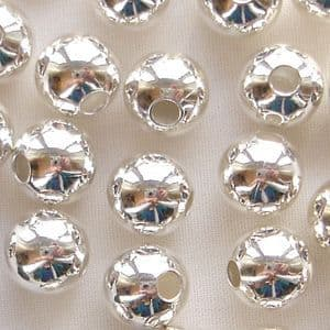 Silver Plated Beads 8mm Round - 10