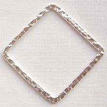 Silver Plated Hoops 28mm Square - 8