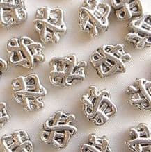"""Silver Plated """"Pewter"""" Beads 8 x 7mm Celtic Knot - 20"""