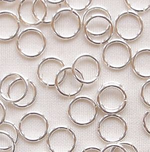 Sterling Silver 5mm Fine Open Jump Ring - 5