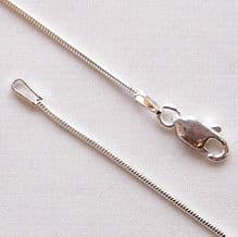 "Sterling Silver Chain 16"" (40cm) Round Snake"