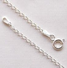 "Sterling Silver Chain 18"" (46cm) Mini Belcher"
