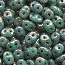 Superduo Beads Turquoise Moondust - 10 grams