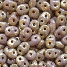 Superduo Beads Violet Picasso - 10 grams