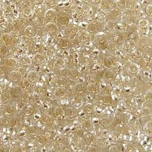 Toho 11/0 Demi Round Permanent Finish Silver Lined Crystal PF21 - 5 grams