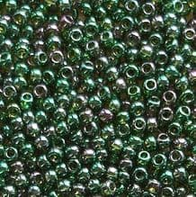 Toho 11/0 Seed Beads Gold Lustred Emerald 322 - 10 grams