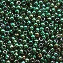 Toho 11/0 Seed Beads Higher Metallic June Bug 506 - 10 grams