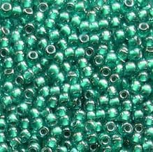 Toho 11/0 Seed Beads Light Sapphire Metallic Teal Lined 377 - 10 grams