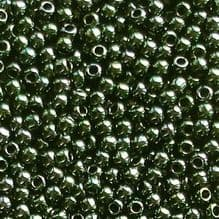 Toho 11/0 Seed Beads Metallic Green Brown Iris 84 - 10 grams
