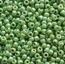 Toho 11/0 Seed Beads Opaque Lustred Mint Green 130 - 10 grams