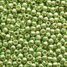 Toho 11/0 Seed Beads Permanent Finish Galvanised Green Apple PF587 - 10 grams
