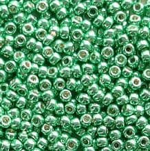 Toho 11/0 Seed Beads Permanent Finish Galvanised Green Teal PF561 - 10 grams