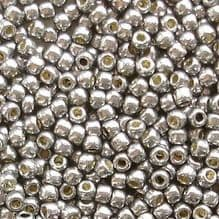 Toho 11/0 Seed Beads,  Permanent Finish Galvanised Gunmetal Grey PF568 - 10 grams