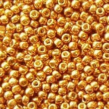 Toho 11/0 Seed Beads, Permanent Finish Galvanised Old Gold PF591 - 10 grams