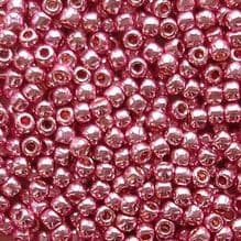 Toho 11/0 Seed Beads Permanent Finish Galvanised Pink Lilac PF553 - 10 grams