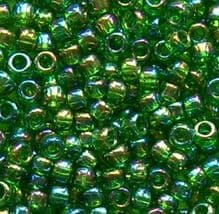 Toho 11/0 Seed Beads Rainbow Grass Green 167B - 10 grams