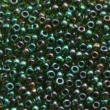 Toho 11/0 Seed Beads Rainbow Green Purple Lined 397 - 10 grams