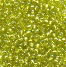 Toho 11/0 Seed Beads Silver Lined Rainbow Lime Green 2024 - 10 grams