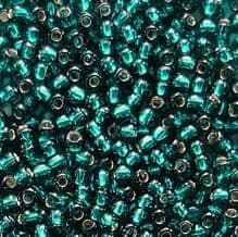 Toho 11/0 Seed Beads Silver Lined Teal 27BD - 10 grams