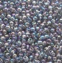 Toho 11/0 Seed Beads, Transparent Rainbow Black Diamond 176 - 10 grams