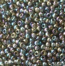 Toho 11/0 Seed Beads, Transparent Rainbow Grey 176B - 10 grams