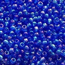 Toho 11/0 Seed Beads Transparent Rainbow Sapphire 178 - 10 grams