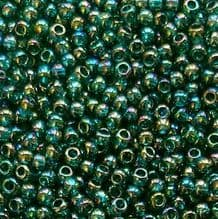 Toho 11/0 Seed Beads Transparent Rainbow Teal 167BD - 10 grams