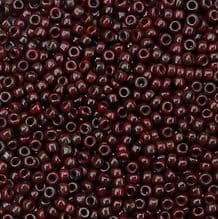 Toho 15/0 Seed Beads, Pepper Red Picasso Y304 - 5 grams