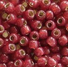 Toho 6/0 Seed Beads Silver Lined Milky Pomegranate 2113 - 10 grams
