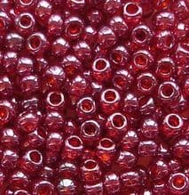 Toho 8/0 Seed Beads Gold Lustred Raspberry 332 - 10 grams