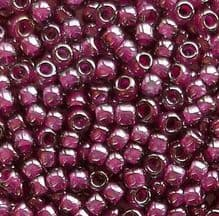 Toho 8/0 Seed Beads Grey Magenta Lined 1076 - 10 grams