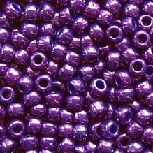 Toho 8/0 Seed Beads Higher Metallic Grape 461 - 10 grams