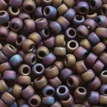 Toho 8/0 Seed Beads Matt Purple Iris 615 - 10 grams