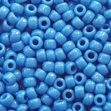 Toho 8/0 Seed Beads Opaque Cornflower 43D - 10 grams