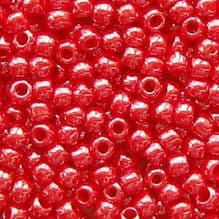 Toho 8/0 Seed Beads Opaque Lustred Cherry 125 - 10 grams