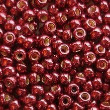 Toho 8/0 Seed Beads Permanent Finish Galvanised Brick Red PF564 - 10 grams
