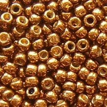 Toho 8/0 Seed Beads Permanent Finish Galvanised Medal Bronze PF594 - 10 grams