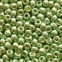 Toho 8/0 Seed Beads Permanent Finish Galvanised Mint Green PF570 - 10 grams