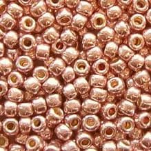 Toho 8/0 Seed Beads Permanent Finish Galvanised Sweet Blush PF552 - 10 grams