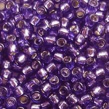 Toho 8/0 Seed Beads Silver Lined Purple 2224 - 10 grams