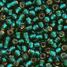 Toho 8/0 Seed Beads Silver Lined Teal 27BD - 10 grams