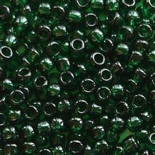 Toho 8/0 Seed Beads Transparent Green Emerald 939 - 10 grams