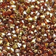 True 2mm Fire Polished, Crystal California Gold Rush - 50